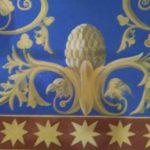 Décor peint chaux et caséine