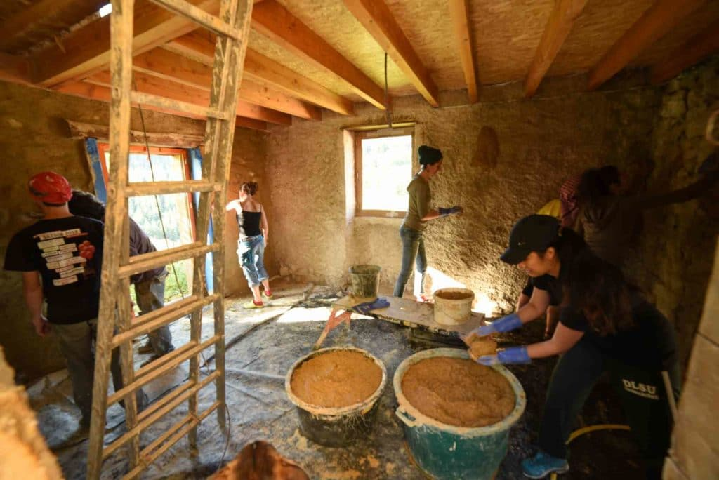 Chantier participatif réalisé avec l'Atelier de la Chaux